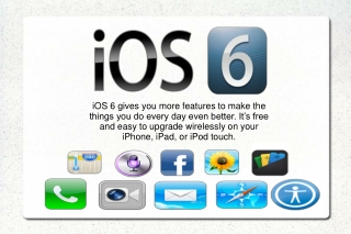 Apple iOS6 for iPhone, iPad, & iPod - New iPhone5 - New Feat