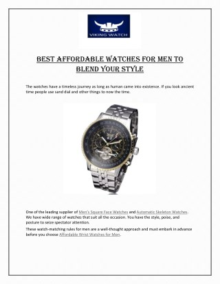 Best Affordable Watches For Men To Blend Your Style