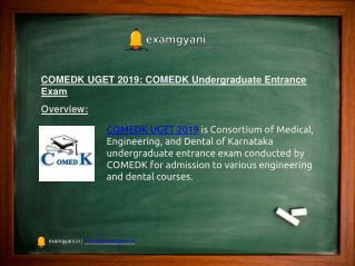 COMEDK UGET 2019: Application Form, Eligibility, Date, Pattern, Result