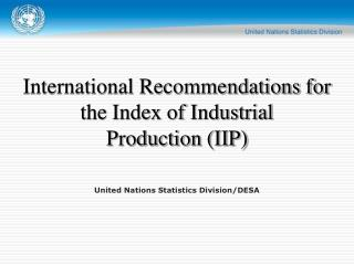 United Nations Statistics Division/DESA