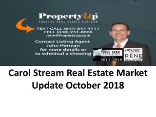 Carol Stream Real Estate Market Update October 2018