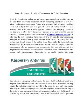 Kaspersky support number 1-888-230-0999 Kaspersky helpline