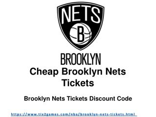 Get Your Brooklyn Nets Tickets