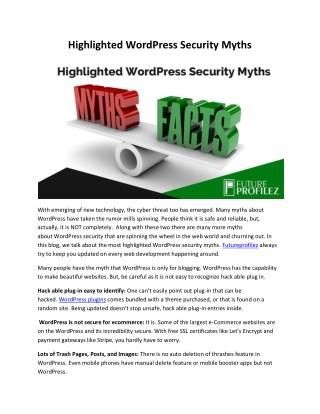 Highlighted WordPress Security Myths