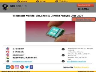 Biosensors Market Size, Share ,Demand Analysis and Industry Forecast 2016-2024