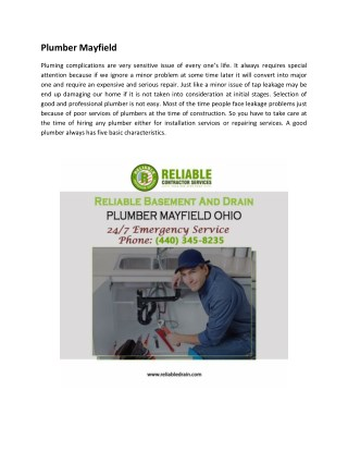 Plumber Mayfield