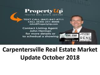 Carpentersville Real Estate Market Update October 2018