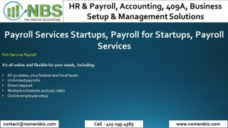 Payroll Services Startups, Payroll for Startups, Payroll Services