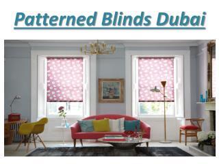 Patterned blind dubai