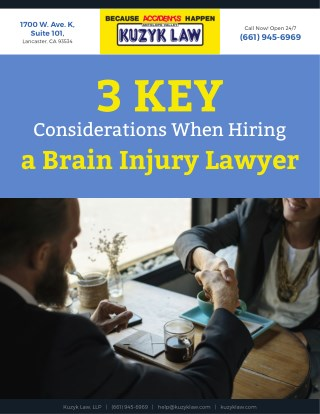 3 Key Considerations When Hiring a Brain Injury Lawyer
