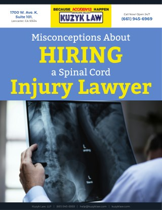 Misconceptions About Hiring a Spinal Cord Injury Lawyer