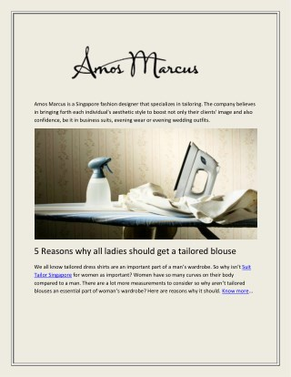 Bespoke Suits for Corporate Events- Amos Marcus