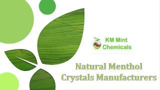 Natural Menthol Crystals Manufacturers