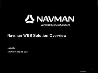 Navman WBS Solution Overview