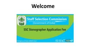 SSC Stenographer Application Fee - Check Exemption Of SSC Stenographer Fee