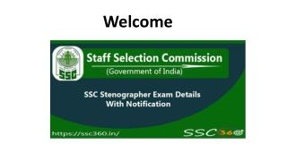 SSC Stenographer Recruitment 2018 - Check Last Date, Notification Out