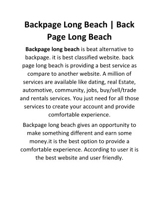Backpage Long Beach | Back Page Long Beach https://longbeach.bedpage.com/backpage/