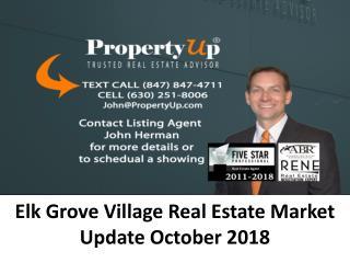 Elk Grove Village Real Estate Market Update October 2018