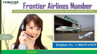 Frontier Airlines Customer Service   Call 1 800 874 8529