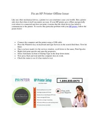 Fix an hp printer offline issue