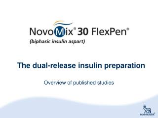 The dual-release insulin preparation