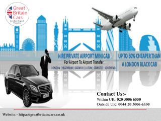 Take the best London airport cabs for your airport journey