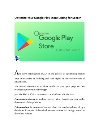 Optimize Your Google Play Store Listing for Search