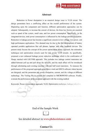 PhD Abstract writing sample - PhD Assistance