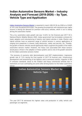Indian Automotive Sensors Market