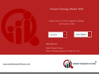 Vertical Farming Market Research Report 2018 New Study, Overview, Rising Growth, and Forecast