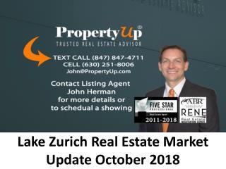 Lake Zurich Real Estate Market Update October 2018