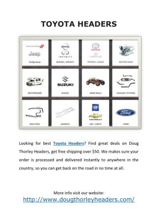 Toyota Headers