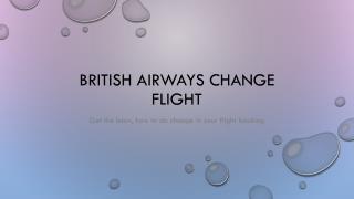 British Airways Cheap Tickets