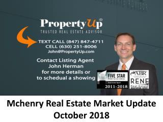 Mchenry Real Estate Market Update October 2018