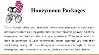 Honeymoon packages | International Tour Packages | Domestic Tour Packages