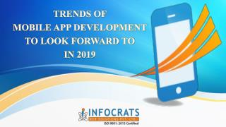 Latest Trends of Mobile App Development for the Year 2018