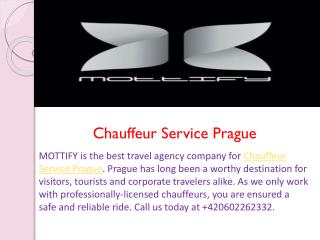 Chauffeur Service Prague