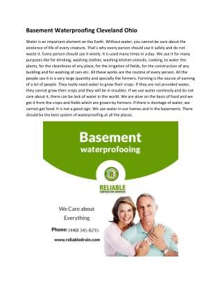 Basement Waterproofing Cleveland Ohio