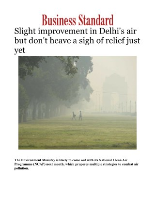 Slight improvement in Delhi's air but don't heave a sigh of relief just yet