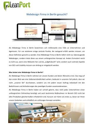 Webdesign Firma in Berlin gesucht?