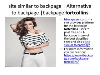 site similar to backpage   Alternative to backpage  backpage fortcollins