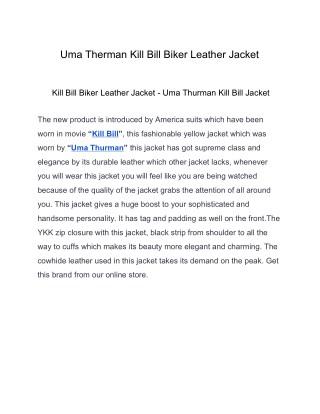 Uma Therman Kill Bill Biker Leather Jacket