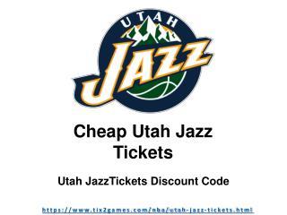 Get Your Utah Jazz Tickets