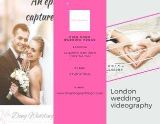 Best wedding Videography In London