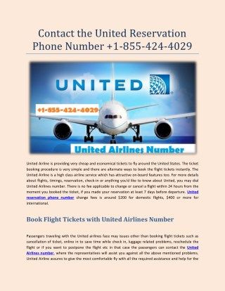 Book Flight Tickets with United Airlines Number