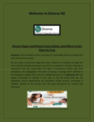 separation NZ, low cost divorce attorney, divorce documents, Divorce Papers