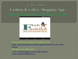 Fashion Jewellery Shopping