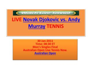 A. Murray vs N. Djokovic Live Stream Final HD Tennis TV