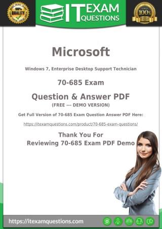 70-685 Exam Dumps - [New 2018] Microsoft MCP 70-685 Questions PDF