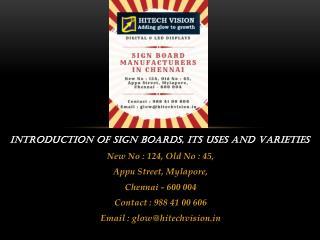 Signage Chennai
